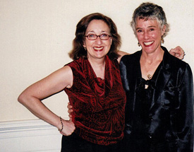 Nancy with Nevada Barr