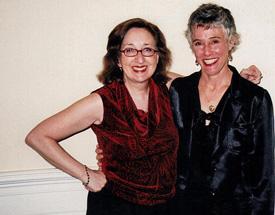 Nancy with Nevada Barr